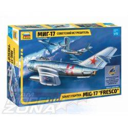 """Zvezda - 1:72 MIG-17 """"Fresco"""" Soviet Fighter - makett"""