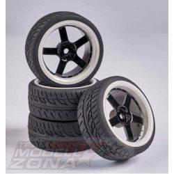 Carson - 1:10 Wheel Set 5 sp. Design (4) black/wh