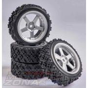 Carson - 1:10 Wheel Set 5 spk. Rallye (4) silver