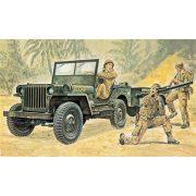 Italeri Willys MB Jeep with Trailer - makett