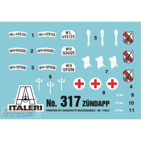 Italeri ZUNDAPP KS750 WITH SIDECAR - makett