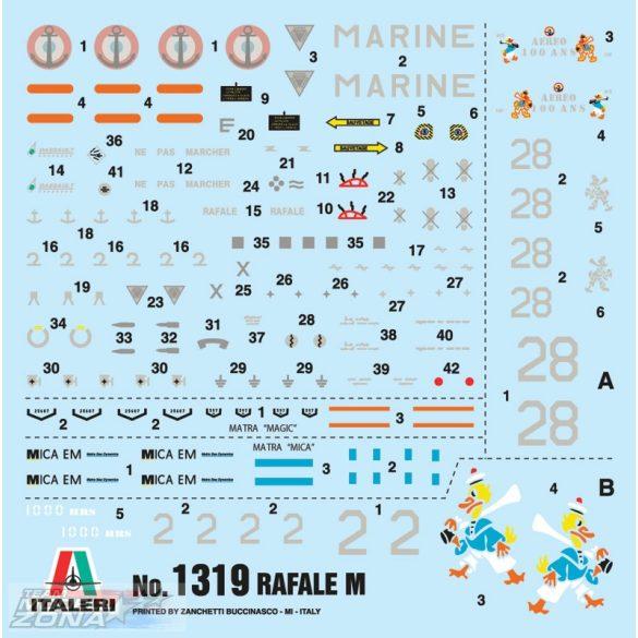 Italeri Rafale M Opérations Extérieures 2011 - makett