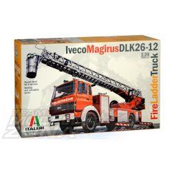 Italeri - 1:24 Iveco-Magirus DLK 23-12 Fire Ladder- makett