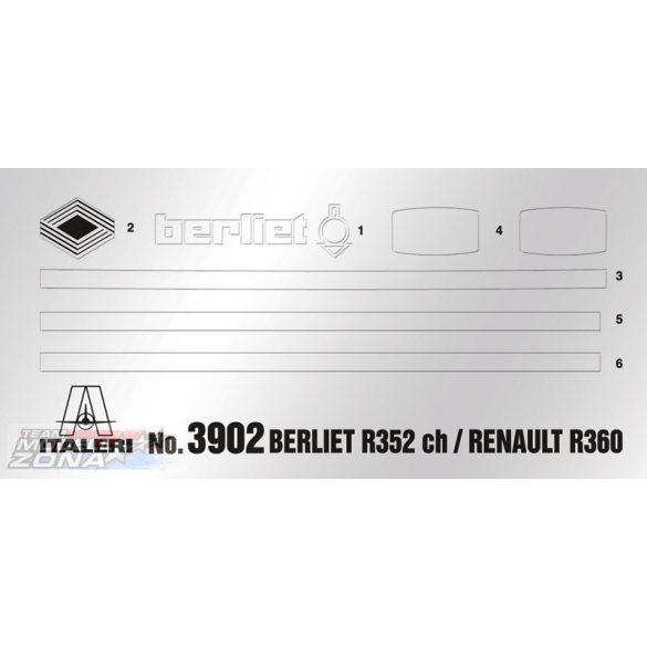 Italeri Berliet R352CH/Renault R360- makett