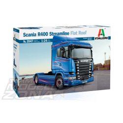 Italeri - 1:24 SCANIA R400 STREAMLINE Flat Roof - kamion makett
