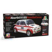 Italeri 1:12 FIAT Abarth 695 SS/ Assetto Corsa - makett