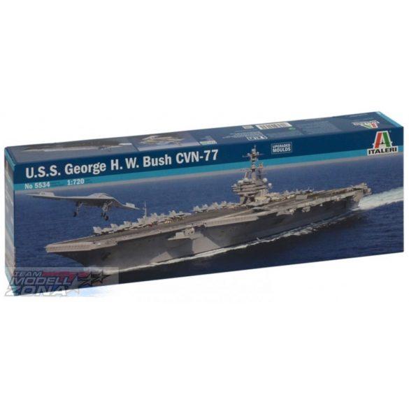 Italeri U.S.S. GEORGE H.W. BUSH CVN-77- makett