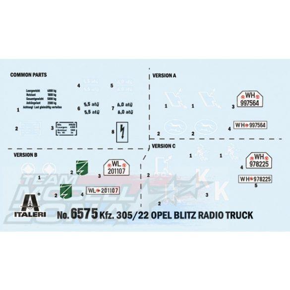 Italeri - 1:35 Sd.Kfz. 305/22 Funkwagen makett