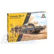 italeri - 1:35 Crusader Mk. II with 8th Army Infantry - makett 5 figurával