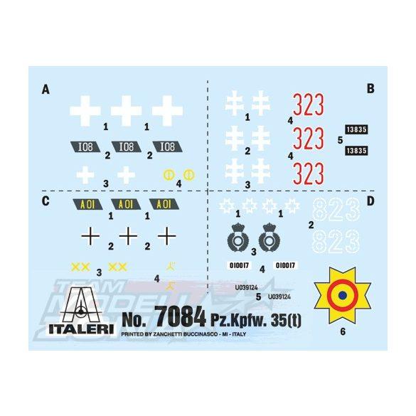 Italeri - 1:72 Pz. Kpfw. 35(t) - makett 1 figurával