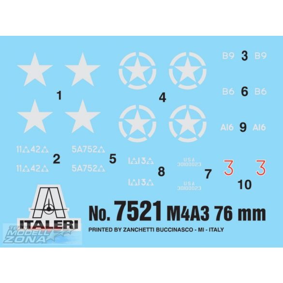 Italeri M4A3 76mm - makett