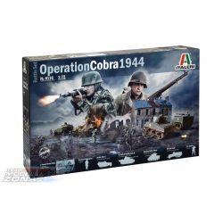 Italeri - OPERATION COBRA 1944 (BATTLE SET) - dioráma makett szett - 50 darabos