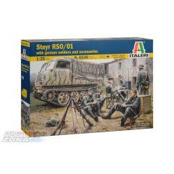 Italeri - 1:35 Steyr RSO/01 w/Germ.soldiers+access - makett