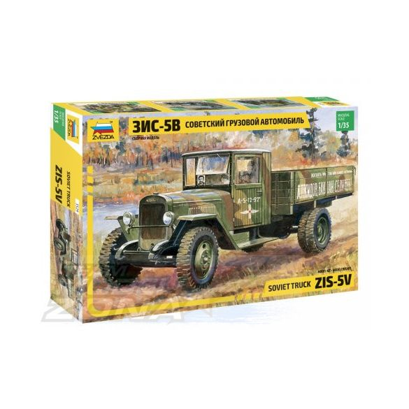 Zvezda - 1:35  ZIS-5 szovjet teherautó - makett