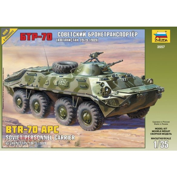 Zvezda BTR-70 APC - makett