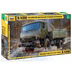 Zvezda - 1:35 K-4350 két tengelyes orosz katonai teherautó - makett