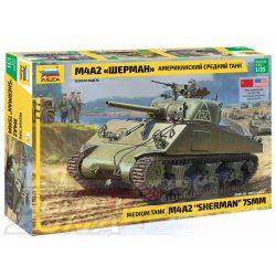 Zvezda - 1:35 Medium tank M4A2 Sherman 75mm - makett
