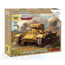 Zvezda - 1:100 Valentine II British Inf.Tank WWII  - makett