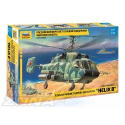 """Zvezda - 1:72 KAMOV Ka-29""""Helix-B"""" orosz helikopter - makett"""