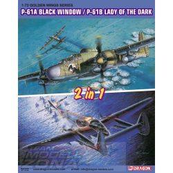 Dragon - 1:72 P-61A Black Widow / P-61B Lady of Dark - makett 2 az 1-ben