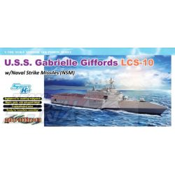 Dragon - 1:700 USS GabrielleGiffords LCS-10 w/NSM - makett