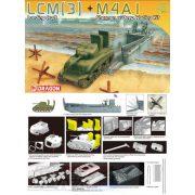 Dragon - 1:72 LCM(3) + M4A1 Sherman multitopic partraszálló makett szett