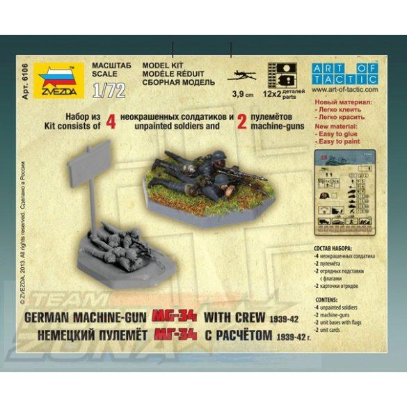 Zvezda German Machinegum Crew East Front 1941 - makett