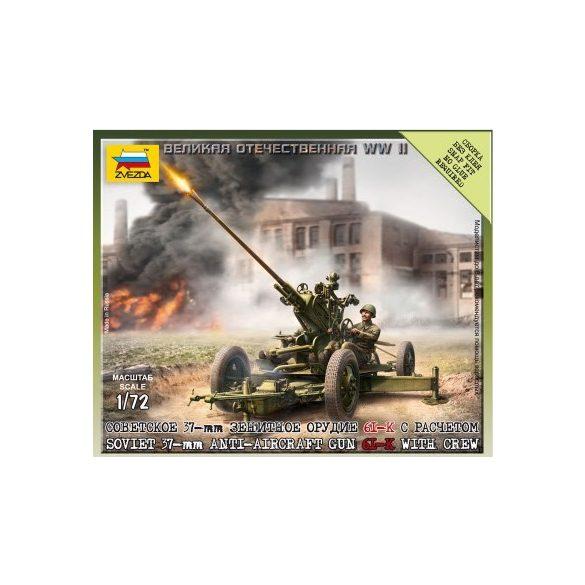 Zvezda Soviet 37mm AA Gun Type 61 - makett