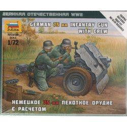 Zvezda German 75-mm Infantry Gun - makett