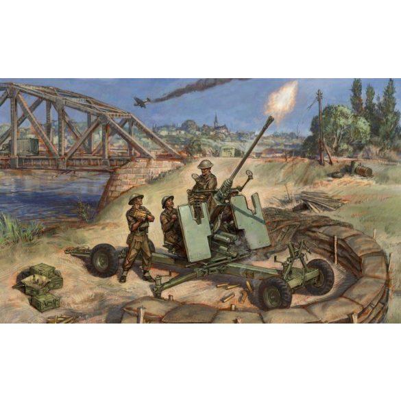 Zvezda British Bofors 40mm Mk-2 AA-Gun - makett