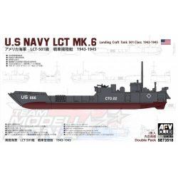 AFV Club - 1:350 US Navy LCT-50 1st Class Mk.6-2 Tank Landing Craft hajó - makett