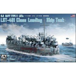 AFV Club - 1:350 US NAVY TYPE 2 LSTs LST-491 Class Landing Ship hajó - makett