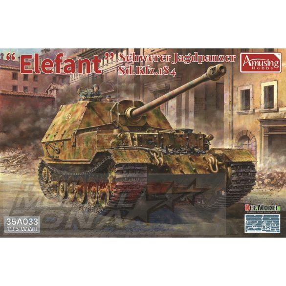 Amusing Hobby - 1:35 Schwerer Jagdpanzer Elefant Sd.Kfz.184 - makett
