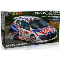 Belkits Peugeot 207 S2000 2009 YYpress Westhoek Rally Winner Makett