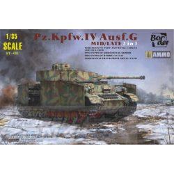 Border Model - 1:35 Panzer IV Ausf.G Mid/Late 2 az 1-ben - makett