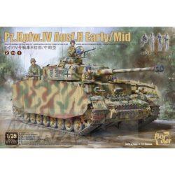 Border Model - 1:35  Pz.Kpfw.IV Ausf.H Early/Mid 2 az 1-ben - makett 4 db figurával