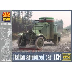 CSM - 1:35 Italian Armoured Car 1ZM - makett