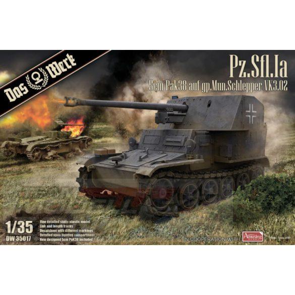 Das Werk - 1:35 Pz.Sfl. Ia - 5cm Pak 38 auf gp. Mun Schlepper - makett