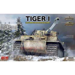Rye Field Model - 1:35 Tiger I Witmann teljes belsővel - átlátszó kiadásban - makett