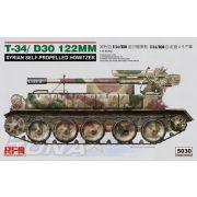Rye Field Model - 1:35 T-34/D30 122mm Syrian Self-Propelled Howitzer - makett