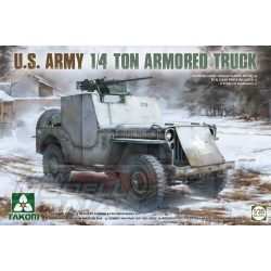 Takom - 1:35 U.S. Army 1/4 Ton Armored Truck (Jeep) - makett