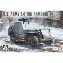 Takom - 1:35 U.S. Army 1/4 Ton Armored Truck (Jeep) - makett
